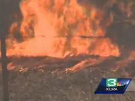 Napa Valley Brush Fire Northern California