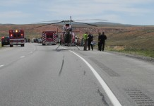 Motorcycle Crash In I-80 Responders