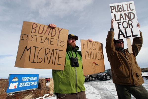 Hundreds In Portland Protest Occupation Of Malheur Wildlife