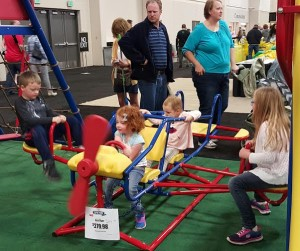 Play equipment was popular with the younger set at this weekend's home show. Photo: Gephardt Daily