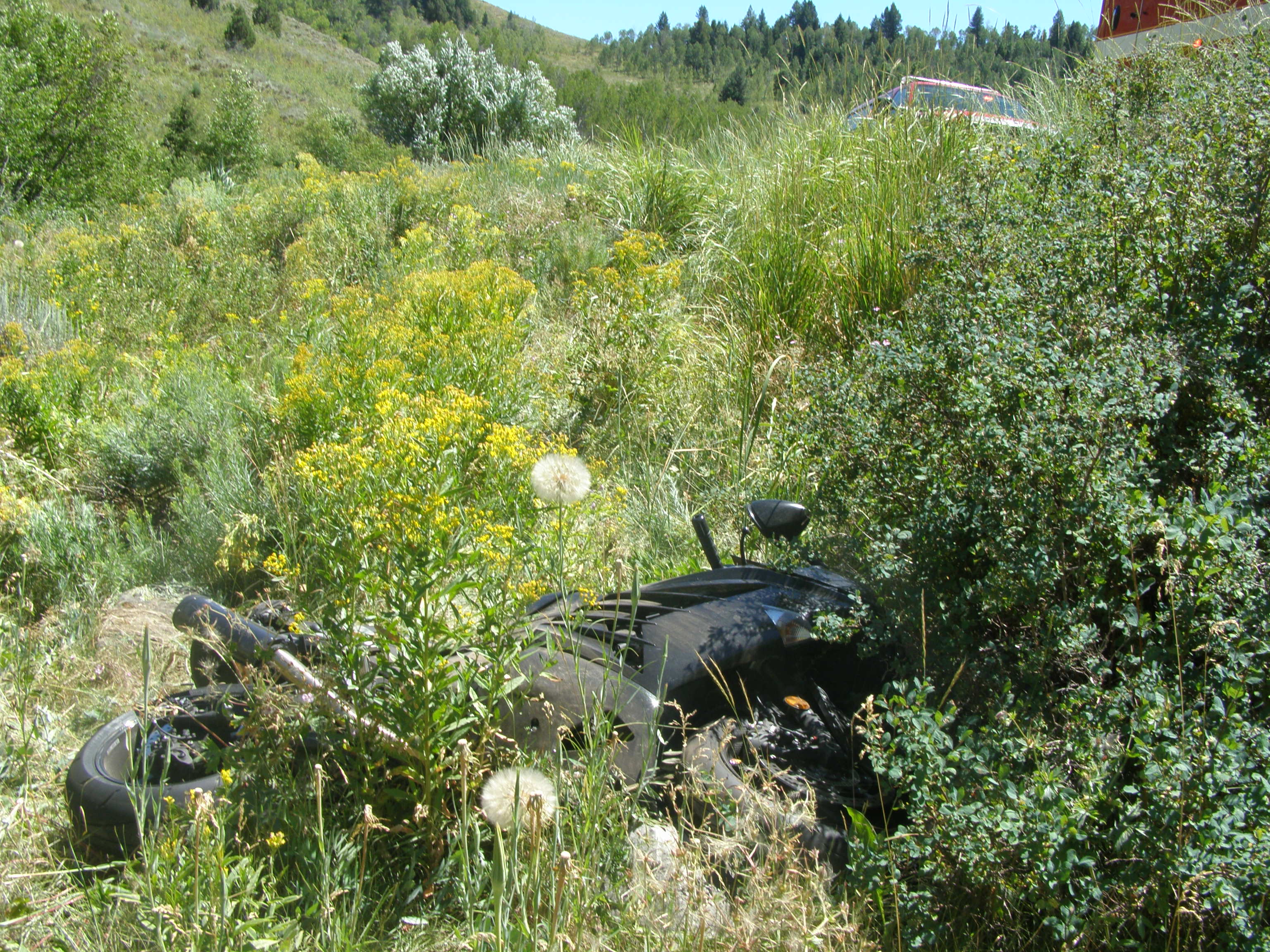 An Ogden man is dead after being thrown from his motorcycle on Sunday afternoon. while traveling on Interstate 89. Photo: Utah Highway Patrol