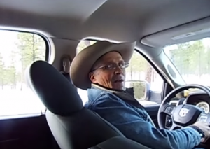 "Robert ""LaVoy"" Finicum in the moments prior to his shooting death by Oregon State Police officers, Jan. 26, 2016. The shooting was later ruled justifiable. Photo: YouTube"