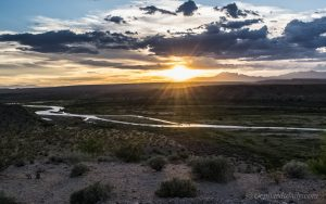 The sun sets over the Cliven Bundy Family Ranch outside Bunkerville, Nevada. June 2016. Photo: Gephardt Daily/Patrick Benedict