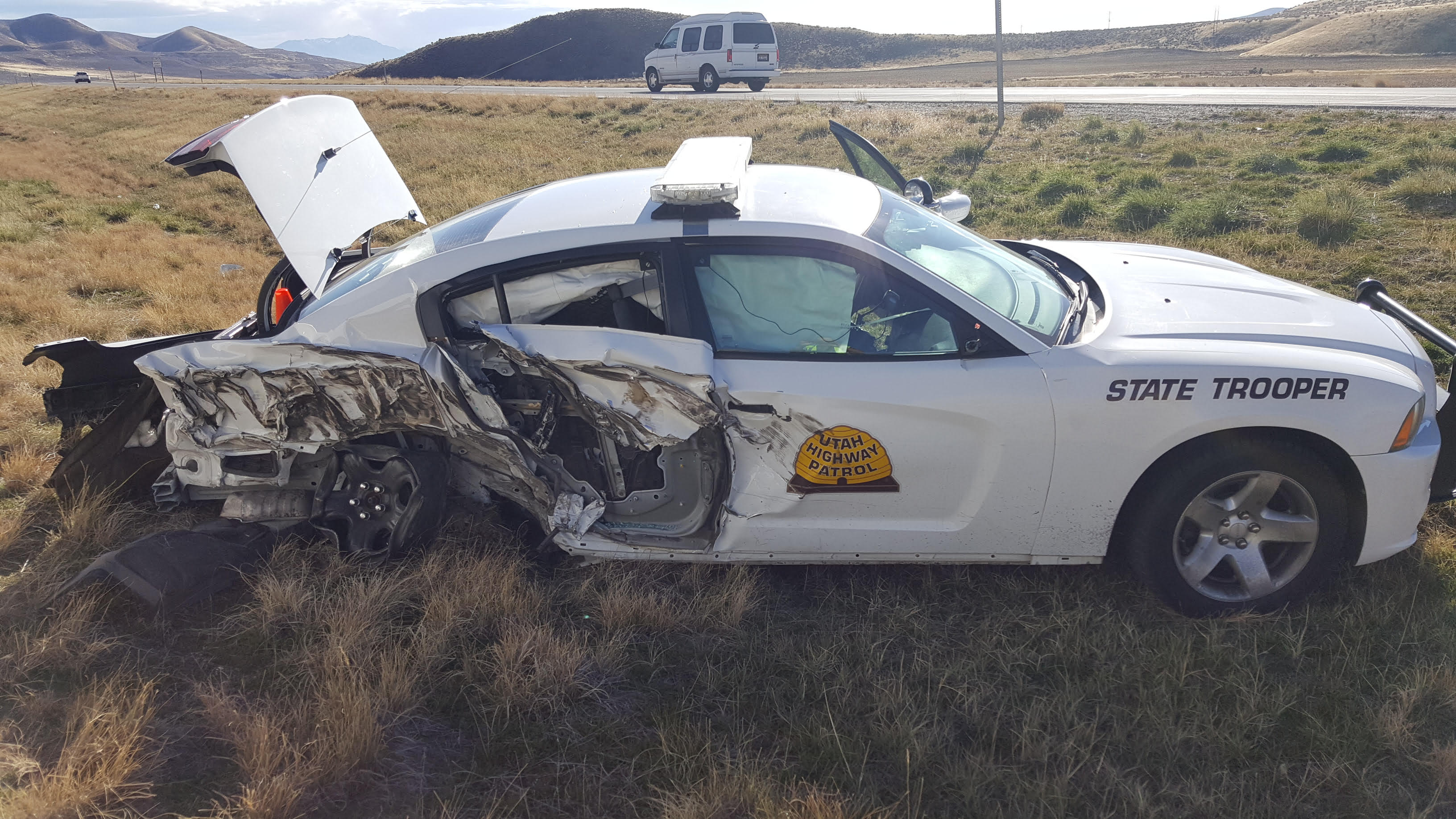 Highway Patrol: Trooper struck by vehicle, critically injured