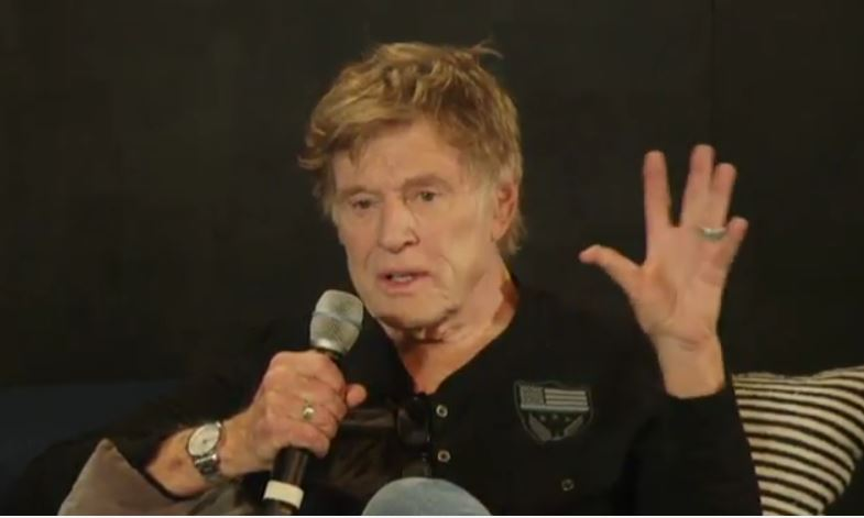 At Sundance, Redford talks the role of artists in a political 'movement'