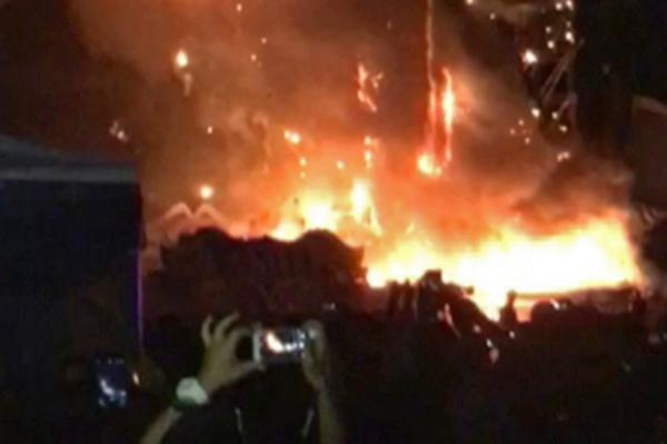 Massive Barcelona festival fire evacuates 22000 (PHOTOS, VIDEOS)