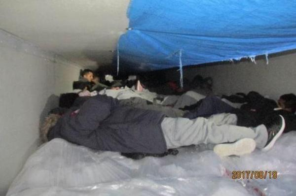 Border Patrol Finds 60 People Hiding in Tractor-Trailer, Driver Arrested
