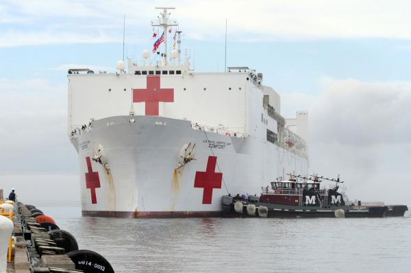 Norfolk based hospital ship heading to Puerto Rico
