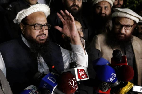 Freed from arrest, Hafiz promptly launches tirade on Kashmir