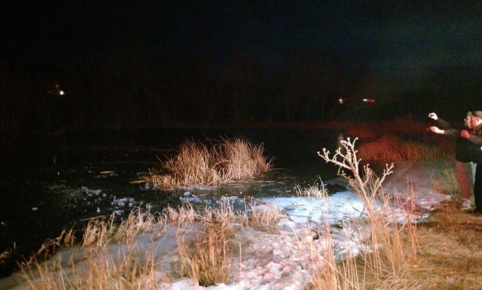 Utah deputy punches through frozen pond to rescue boy