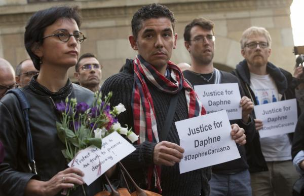 Three charged over murder of Maltese journalist