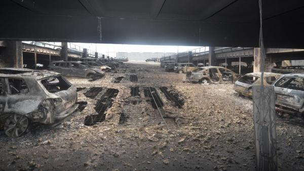 Auto park fire at Liverpool's Echo Arena has destroyed all vehicles
