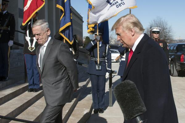 Defense Secretary James Mattis says terrorism no longer America's 'primary focus'