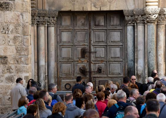 Israel's Holy Sepulchre church closes in protest of property bills