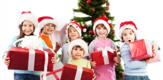 Boys and Girls Holding Presents - Gephardt Daily