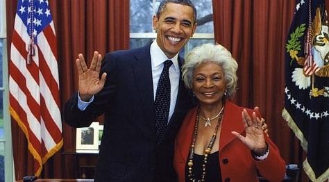 President Barack Obama  Nichelle Nichols