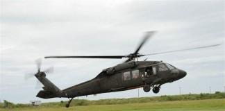 BlackhawkUH-60 Black Hawk landing in Cameron, Louisiana