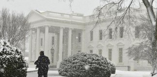 White House Heavy Snow Fall