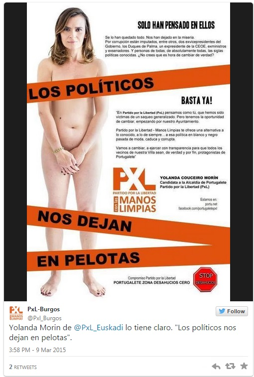 Spanish Politician Poses Nude For Campaign Poster | Gephardt ...
