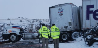 Blizzard Condition Cause Pile-Up Near Cheyenne