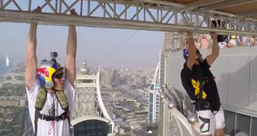 Base Jumpers Leap From 99th Floor Of Dubai Tower