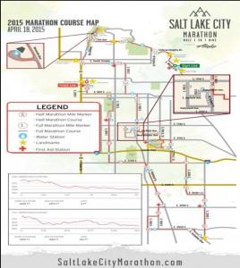 Salt Lake City Marathon Route
