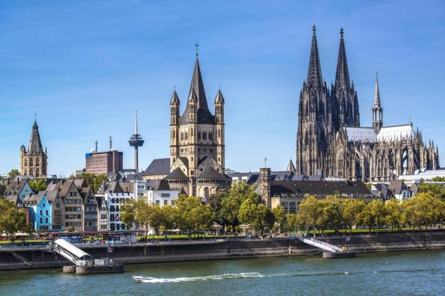 The city of Cologne, Germany