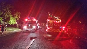 Clinton City firefighters response to house fire which killed 5 pets Saturday night Photo:Gephardt Daily