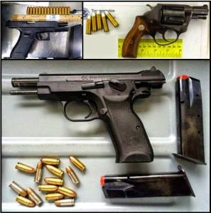 Weapons recently seized at U.S. airports by TSA security screeners. Photo: TSA