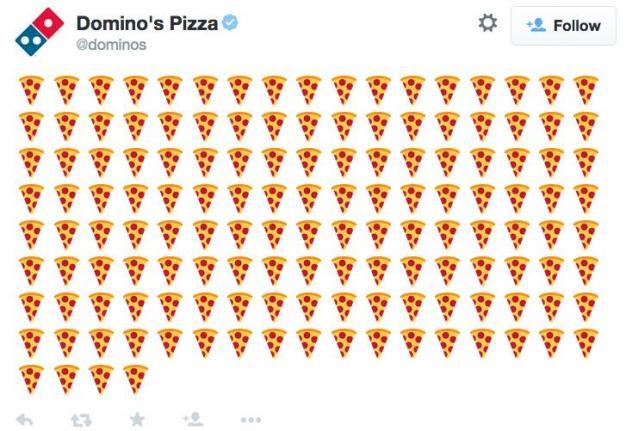 Order Domino's with Emoji