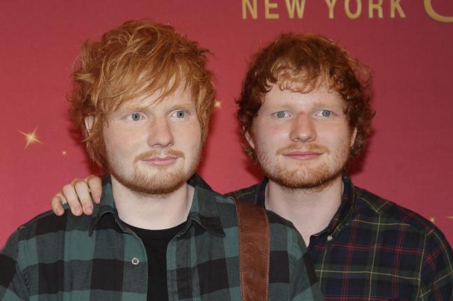 Ed Sheeran Meets His Wax Statue
