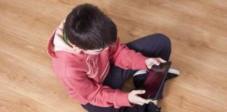 Kid Watching Video on Phone