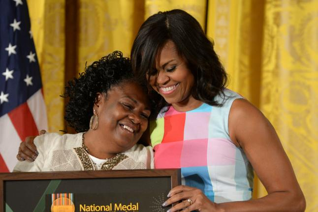 Michelle Obama Presenting National Medals