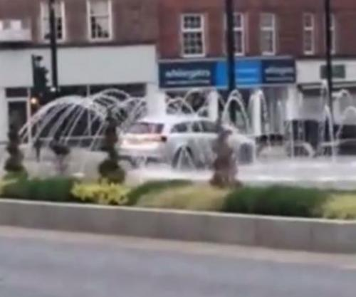 Motorist Caught Using Fountain