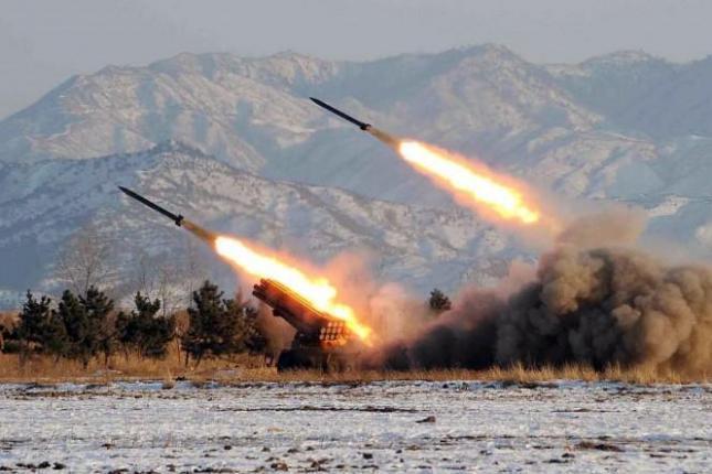 North Korea test fires missiles into the Yellow Sea