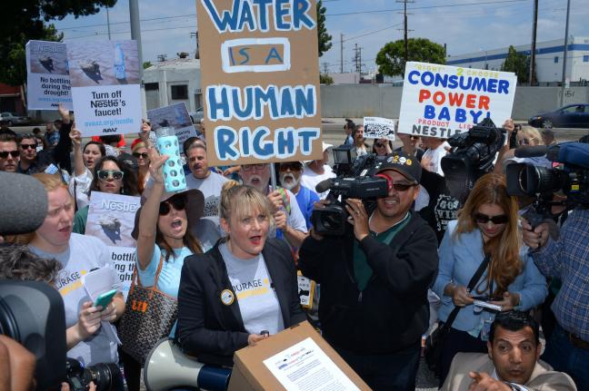 Protesters Demand Nestle Cease Water Bottling