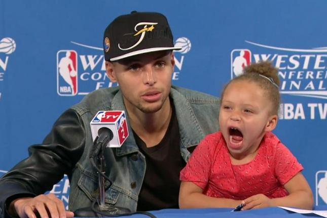 Stephen Curry's Daughter Sings Drake