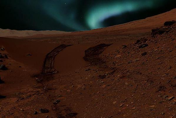 Similarities Between Mars, Earth Aurorae