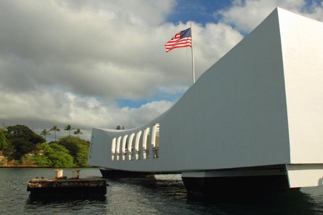 USS Arizona Memorial at Pearl Harbor Closed