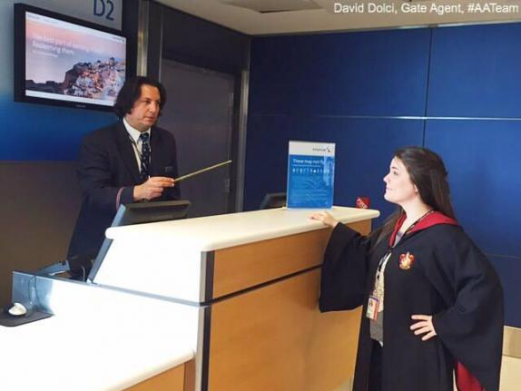 Airlines Employee Passes as Severus Snape
