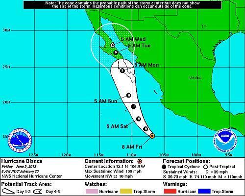 Baja California Hurricane Blanca