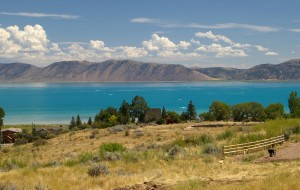 112 square mile Bear Lake on the Utah-Idaho border. Photo: Wikipedia Creative Commons