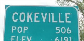 Cokeville sign