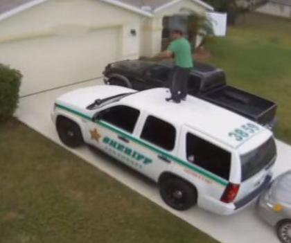 Florida Man Dances on Police Vehicle