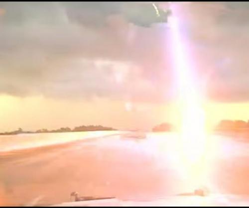 Mississippi Police Car Records Lightning