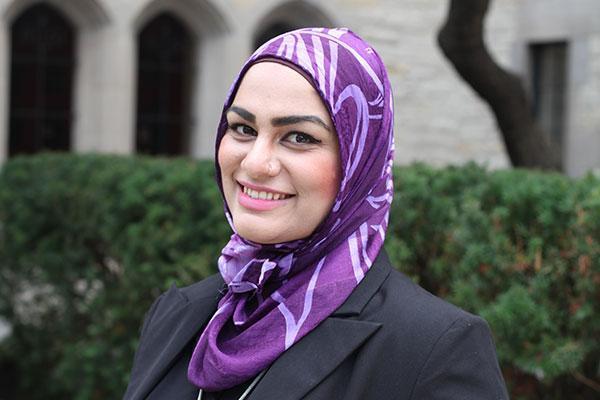 Tahera Ahmad says she was discriminated against on a United Airlines flight. Photo courtesy Northwestern University.