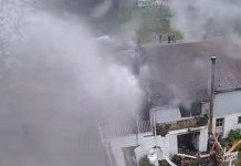 NY Firefighters Turn Hose To Drone