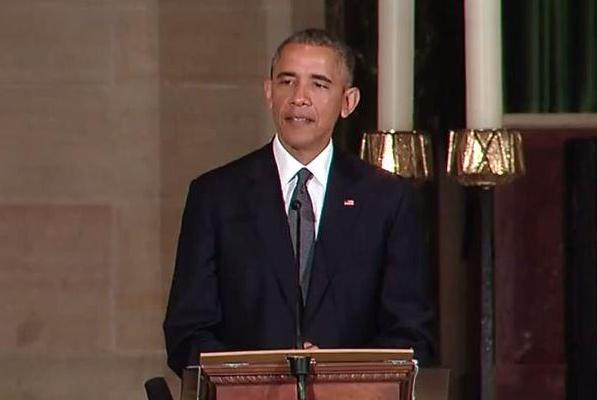Barack Obama Beau Biden Funeral