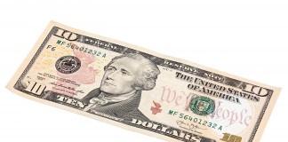 Ten Dollar Bill Alexander Hamilton
