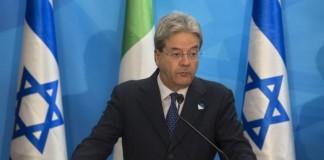 Italian Foreign Minister Paolo Gentiloni Jerusalem